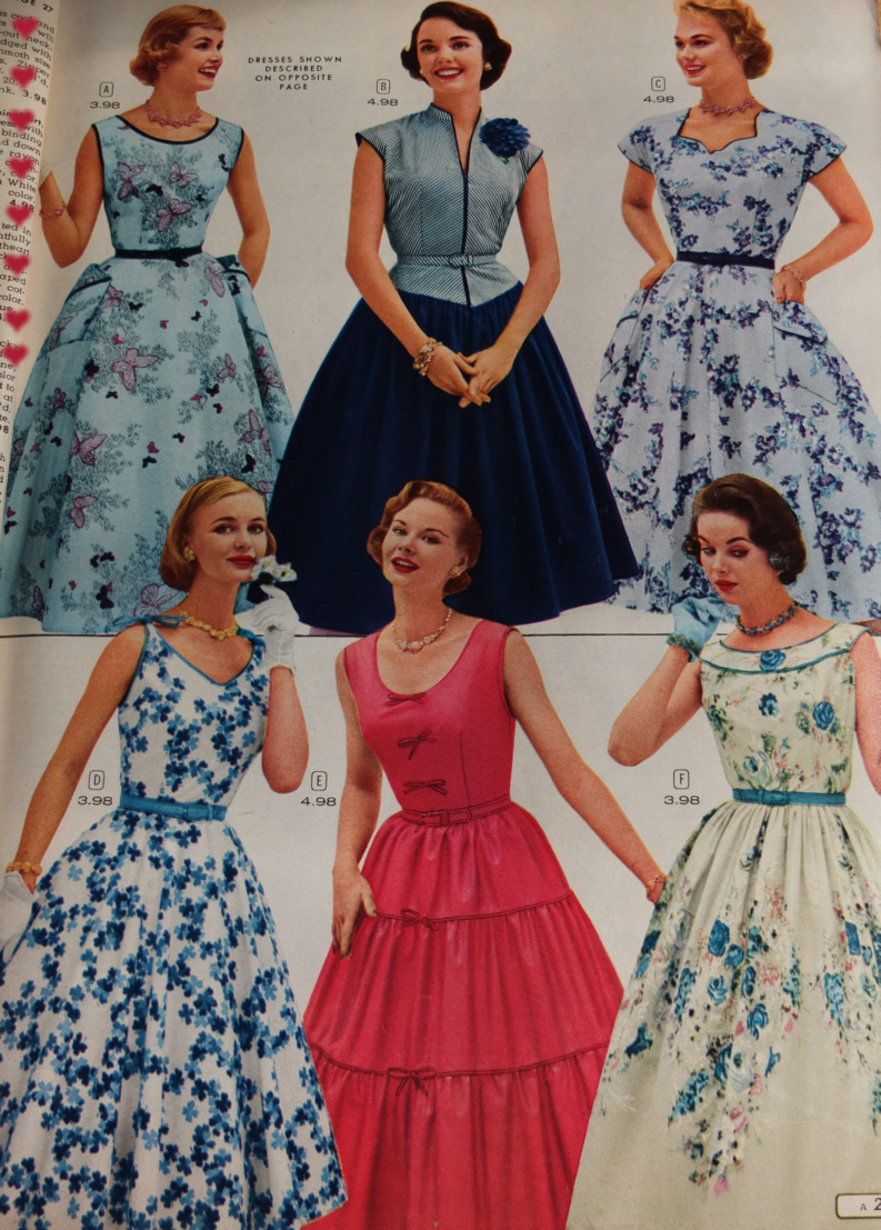 A Look At 1956 Spring/Summer Dresses